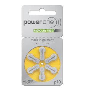 Abbildung von Hörgeräte Batterie Power One p 10 10er