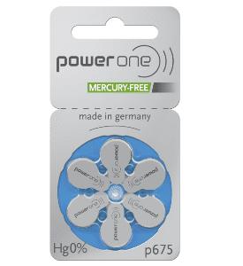 Abbildung von Hörgeräte Batterie Power One p 10 p675